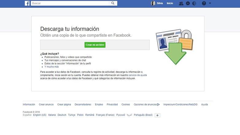 facebook descargarinfo