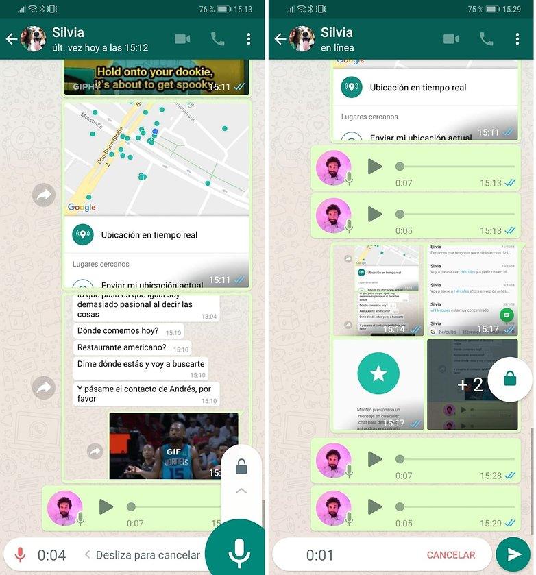 whatsapp candado espanol