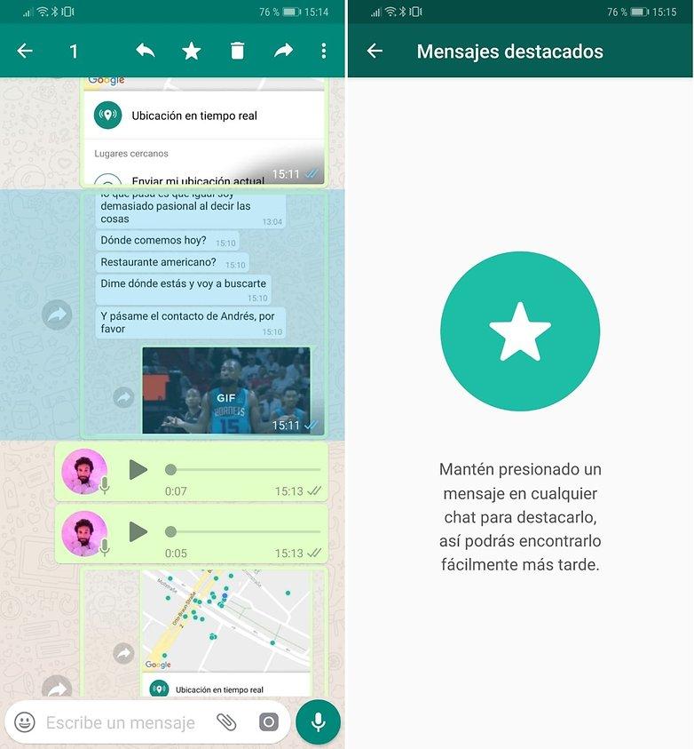 whatsapp mensajes destacados espanol