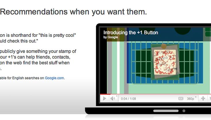 Google añade el botón +1 - ¡Me gusta!