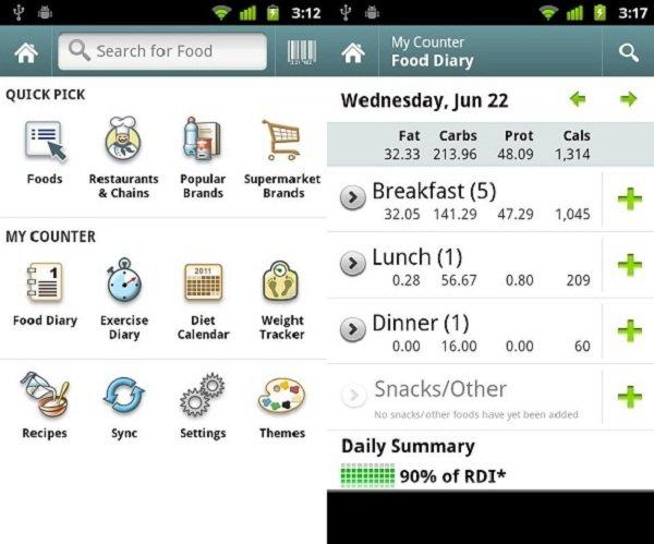 contar caloria android