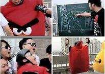 ¿Un Angry Birds humano o la catapulta humana? (Vídeo)