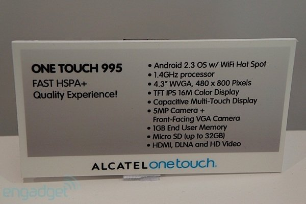 Alcatel OneTouch 995 5