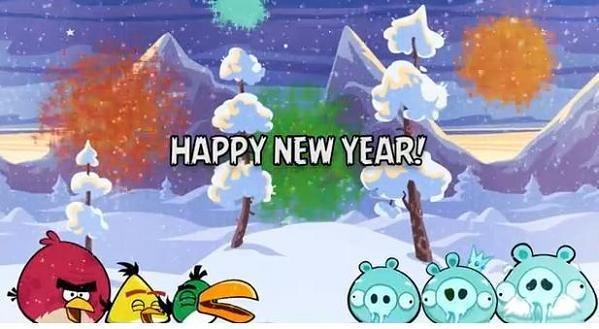 Angry Birds feliz año nuevo