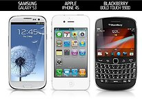 Samsung Galaxy S3 vs iPhone 4S vs BlackBerry Bold