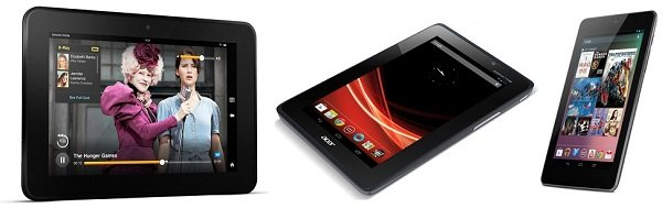 comparacion kindle fire hd nexus 7 acer iconia a110