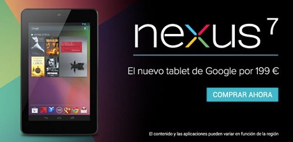 nexus 7 espana