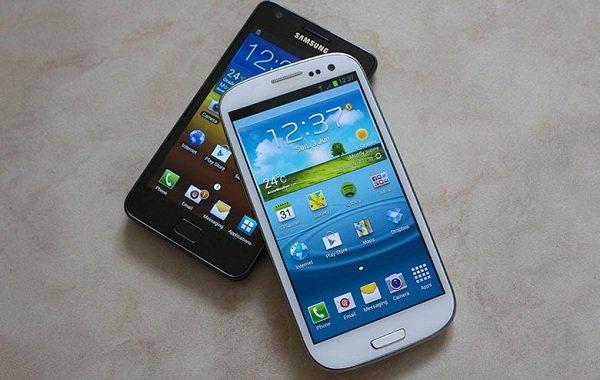 Samsung Galaxy S III vs Samsung Galaxy S II S2 S3
