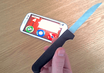 SGS3, vamos a jugar a un juego: Fruit Ninja con un cuchillo de verdad