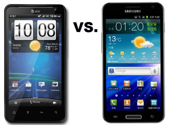 HTC Vivid vs Samsung Galaxy S2