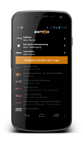 zattoo television android