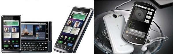 Motorola Milestone 2 huawei ideos x5 gingerbread