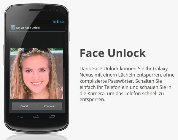 Ice Cream Sandwich 4.0 Face Unlock no es seguro