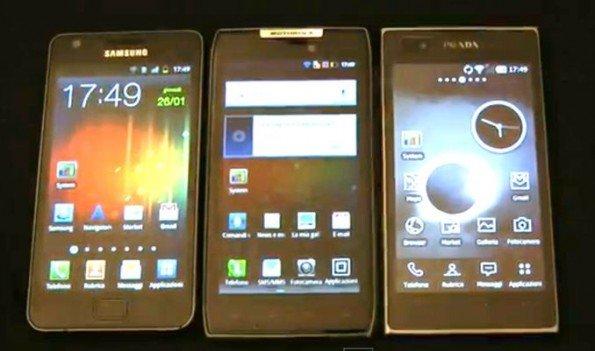 Galaxy S2 vs Razr vs LG Prada 3.0