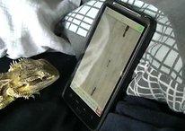 Una iguana, usuario de Android (Vídeo divertido)