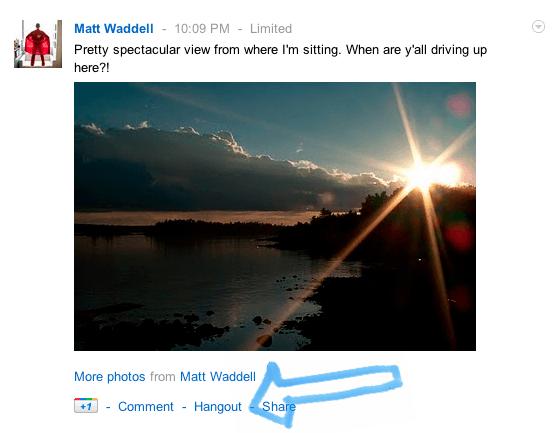 Google+ hangout publicaciones