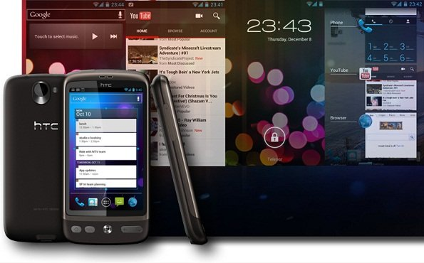 HTC Desire Android 4.0 Ice Cream Sandwich