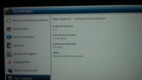 HTC Flyer con Android Honeycomb
