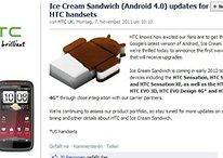 Actualización a Ice Cream Sandwich para el HTC Evo 3D y la gama de los Sensation