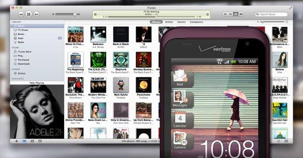 Sincroniza HTC con iTunes