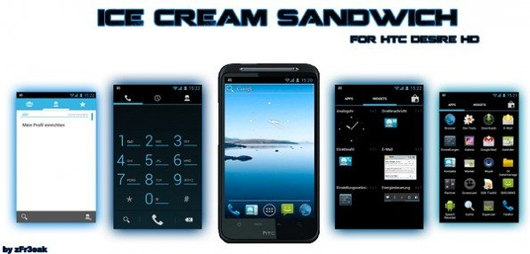 HTC Desire Sandwich ICS Ice Cream Sandwich