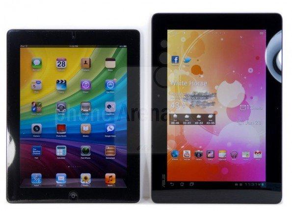 Transformer Prime vs iPad 2
