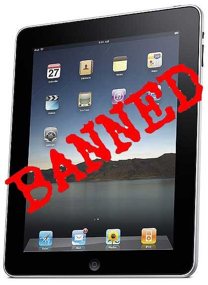 ipad prohibido en china