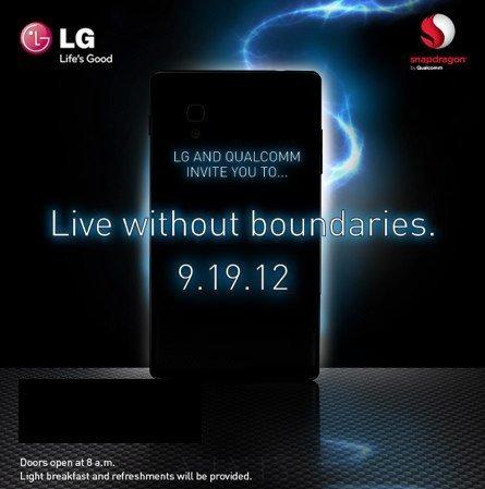 LG Optimus G événement LG septembre