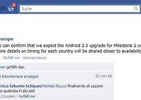 Gingerbread para el Motorola Milestone 2 en el último cuatrimentre
