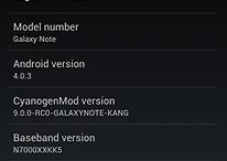 CyanogenMod para el Galaxy Note - la primera versión alfa