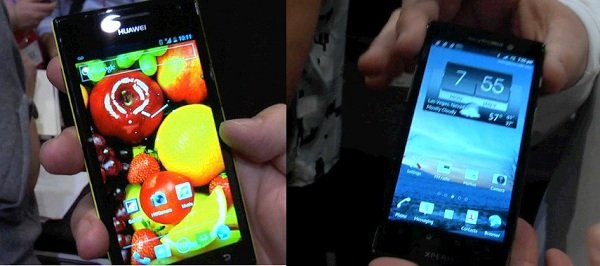 Smartphones CES Sony Xperia Ion Huawei Ascend P1 D