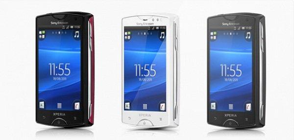 Xperia Mini Xperia Mini Pro Live Walkman android 4.0 ice cream sandwich ics
