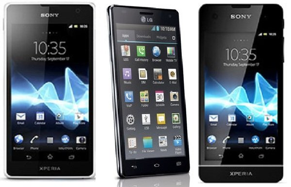 Sony Xperia SX Xperia GX LG Optimus 4x HD