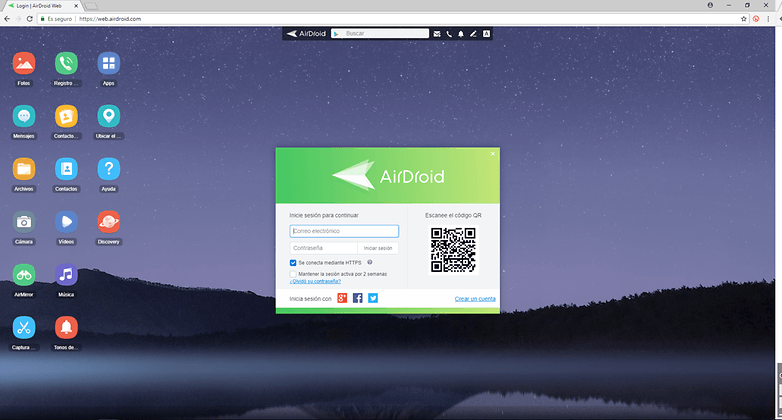 Web version of AirDroid