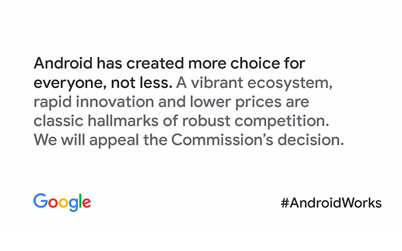 Google comunicado