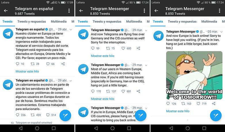 Telegram twitter