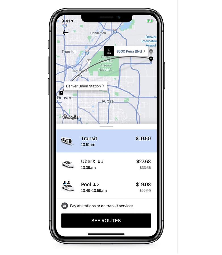 uber ajoute les transports publics son application androidpit. Black Bedroom Furniture Sets. Home Design Ideas