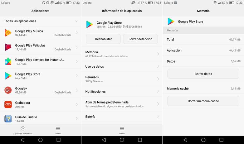 borrar cache google play androidPIT