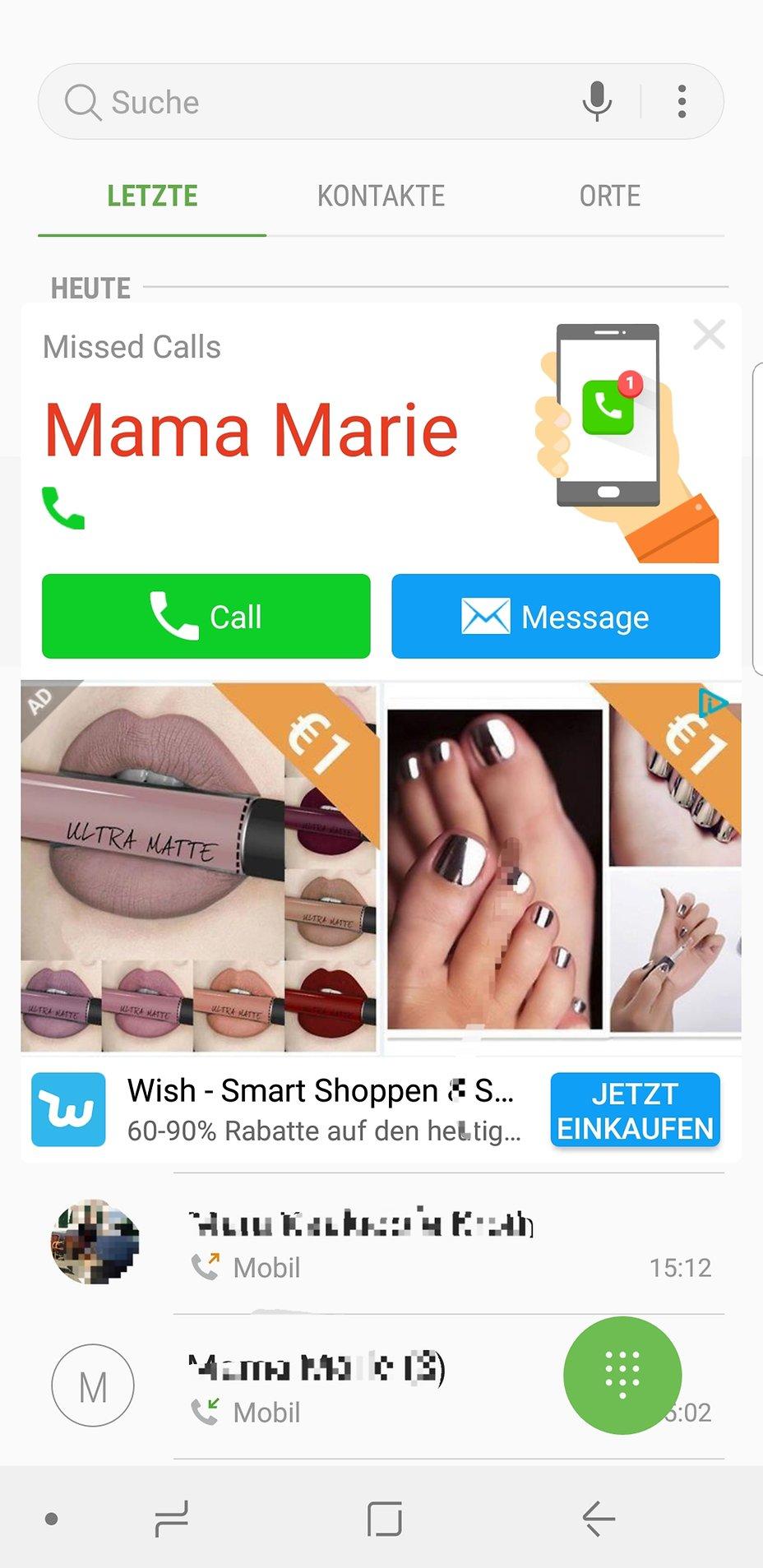 Samsung Galaxy S7 Edge Pop Up Werbung Auf Dem Haupt Bildschirm