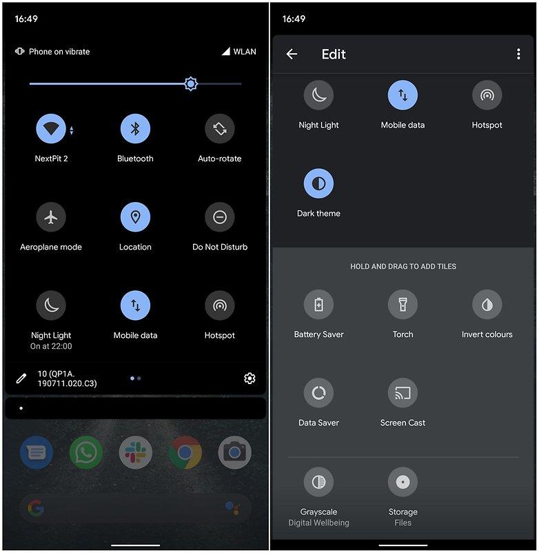 Android 10 Symbole