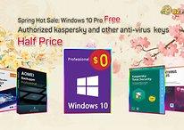 Antivirus software half price, get Windows 10 Pro for free
