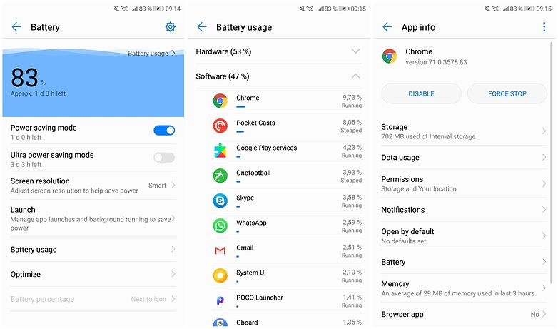 battery usage background apps emui