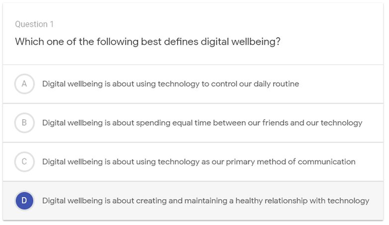 digital wellbeing quiz