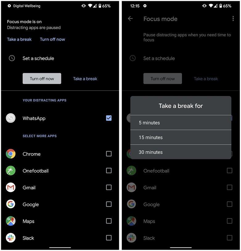 Fokusmodus Android 102