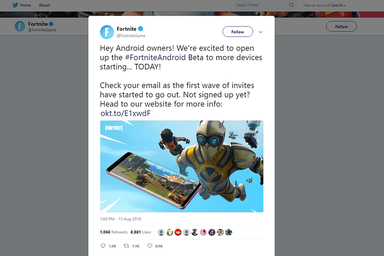 fortnite games tweet
