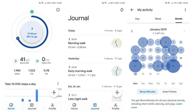 google fit app steps