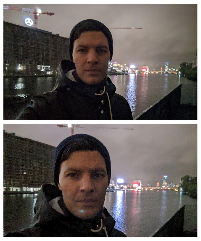 pixel 5 selfie night mode