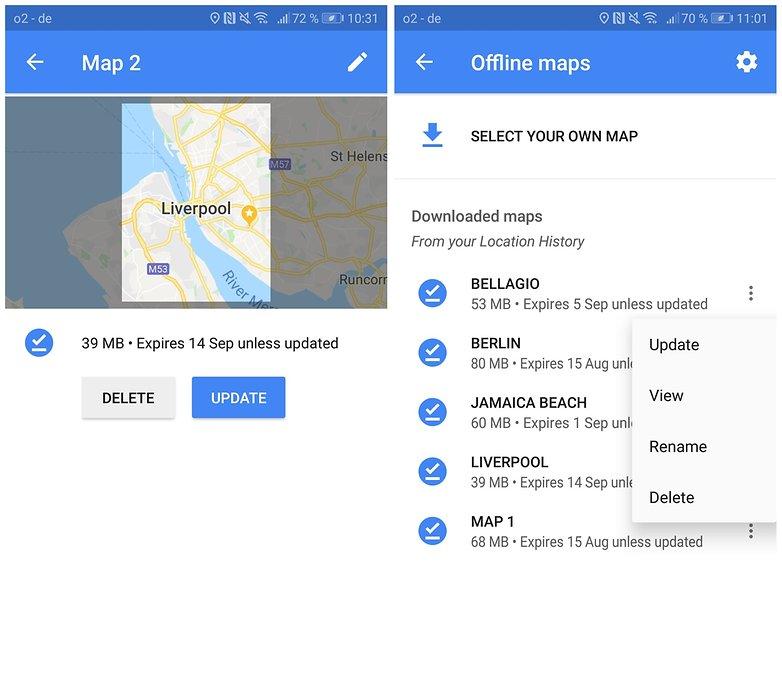 use google maps offline 03