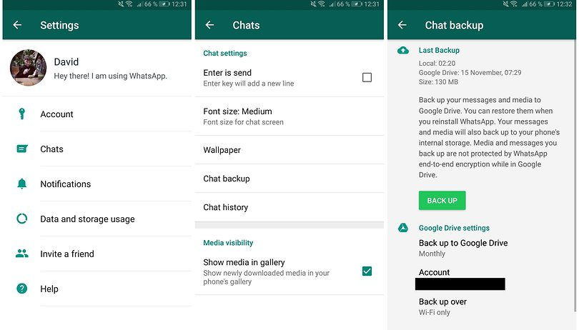 download whatsapp conversations from google drive