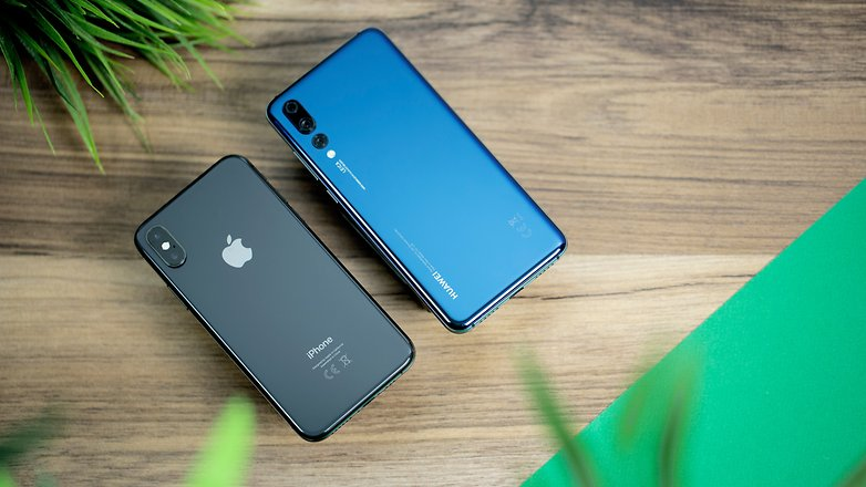 iPhone XS vs Huawei P20 Pro 04b